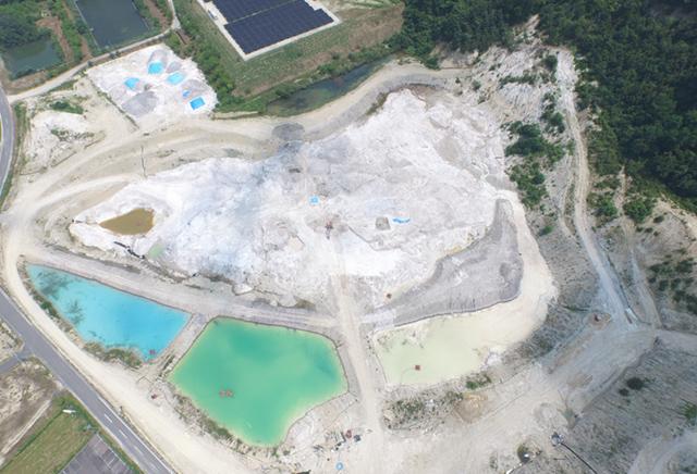 陶土鉱山の掘削業務委託