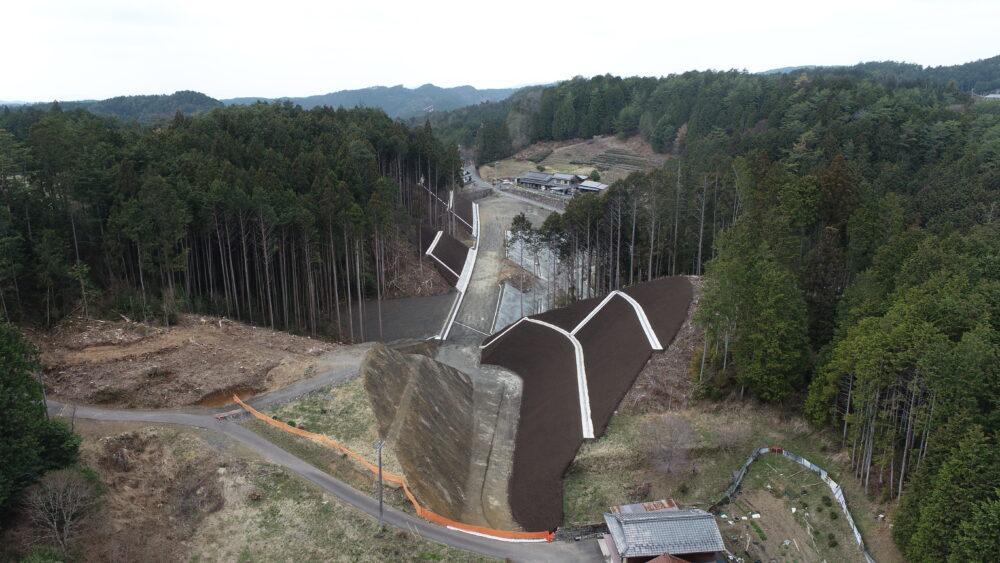 新丸山ダム国道418号五明地区工事用道路工事